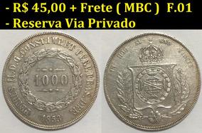 1000 Réis De 1853 - Mbc - Prata - Moeda Do Império