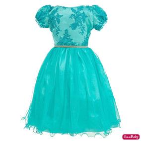 Vestido Infantil Realeza Daminha Formatura Aniversário Luxo