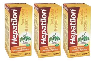 Hepatilon Boldo Para Azia Queimação Mal-estar Enjoo 3x150ml