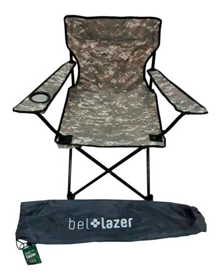 Cadeira Araguaia Com Braço Dobrável Camuflada 16900 Belfix