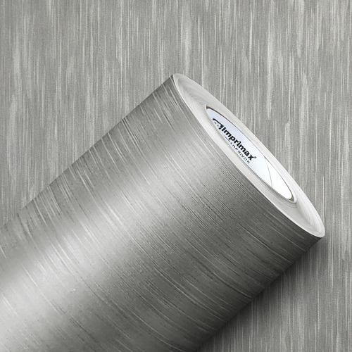 Imagem 1 de 5 de Adesivo Geladeira Envelopamento Aço Escovado Inox 17m X 1m