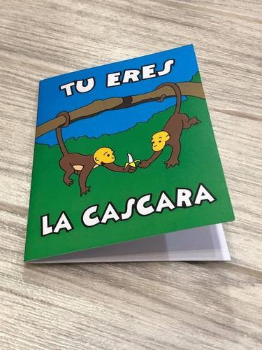 Imagen 1 de 8 de Simpsons Cáscara De Mi Banana Tarjeta San Valentín Monoslisa