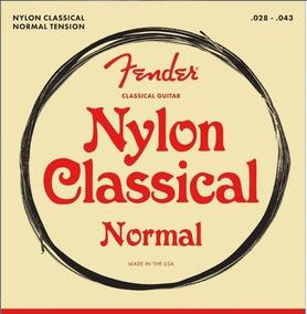 Fender Medium 100clr Cordas P/ Violão Nylon