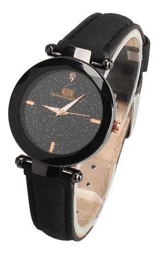 Relógio Feminino Pulseira Couro Ds Céu Estrelado