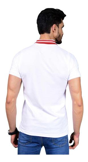 Camisa Polo Porto Blanco Algodon Hombre Blanca Lisa