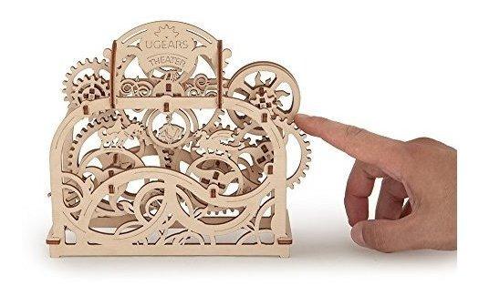 Ugears Theater Mecánica 3d Puzzle De Madera Construcción De