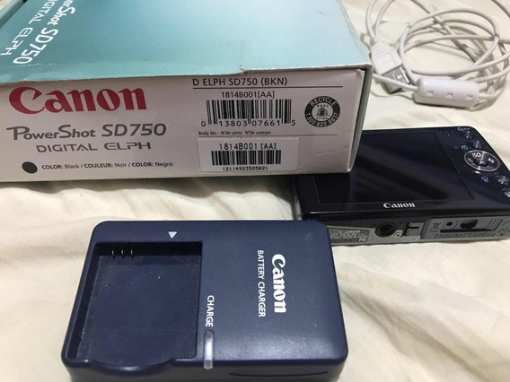 Câmera Canon Powershot Sd750 - Digital Elph