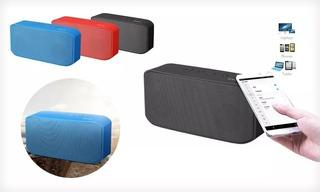 Parlante Portatil Blue Monster S305 Red Bluetooth Aux Usb