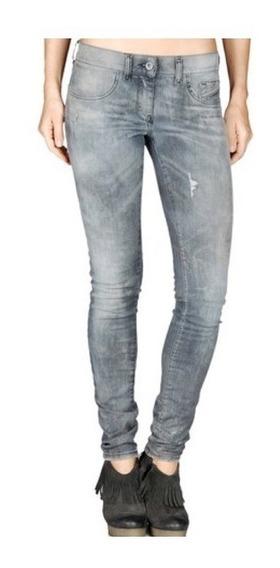 Jean De Mujer Diesel Livier Super Slim Legging Gris