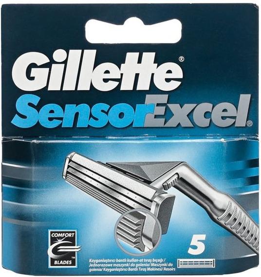 Repuestos Para Afeitar Gillette Sensor Excel X 5 Cartuchos