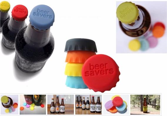 Tapas Tapones Para Botella Cerveza Silicona X 6 Colores