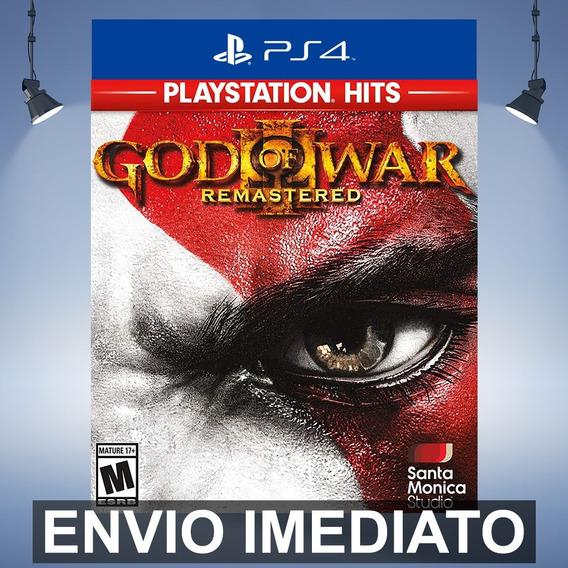 God Of War 3 Remastered - Ps4 Código 12 Dígitos
