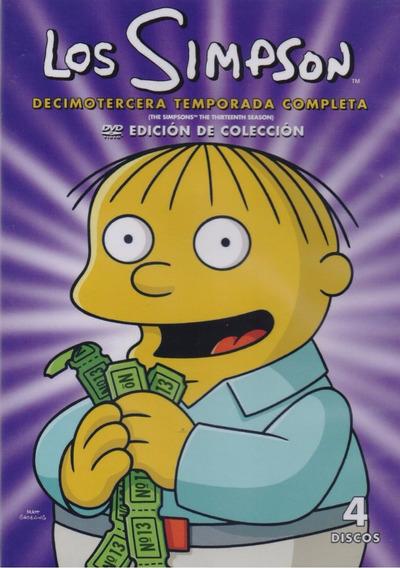 Los Simpson Treceava Temporada 13 Trece Dvd