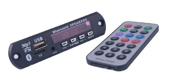 Módulo Decoder Bluetooth Mp3 Fm Carregador + Controle Remoto