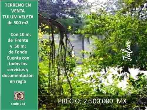 Terreno En Venta En Tulum - Pueblo Zona Veleta