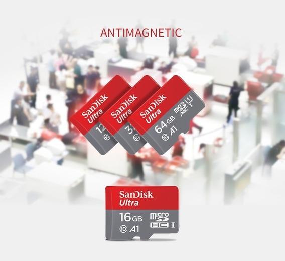 Cartão De Memoria 64 Gb Sandisk A1 + Adaptado