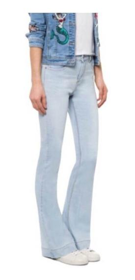 Calça Jeans Flare Azul Claro Le Lis Blanc
