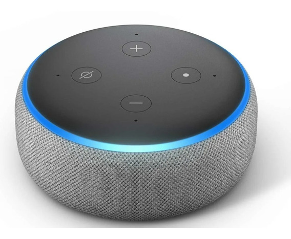 Smart Speaker Amazon Com Alexa Cinza - Echo Dot