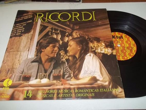 * Lp Vinil Ricordi 14 Melhores Musicas Romanticas Italianas