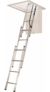 Werner Ladder Escalera Aluminio Aa1510 Para Ático 250 Lb