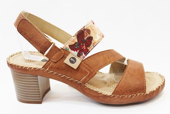 Sandalia Cuero Mujer Combinada Art Sandy. Marca Claris Shoes