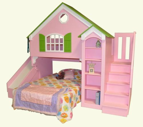 Cama Barbie,casa Barbie,castillos,niño, Niña Parque Infantil