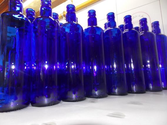 Botella Hoponopono Vidrio Azul Solarizar Agua