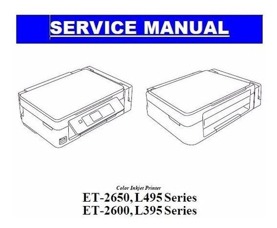 Manual De Serviço Epson L495 E L395 Series