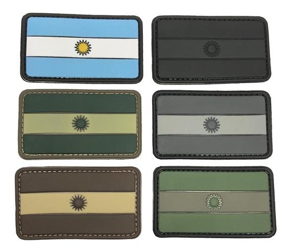 Parche Bandera Argentina Pvc Alta Calidad Emol Equipamiento