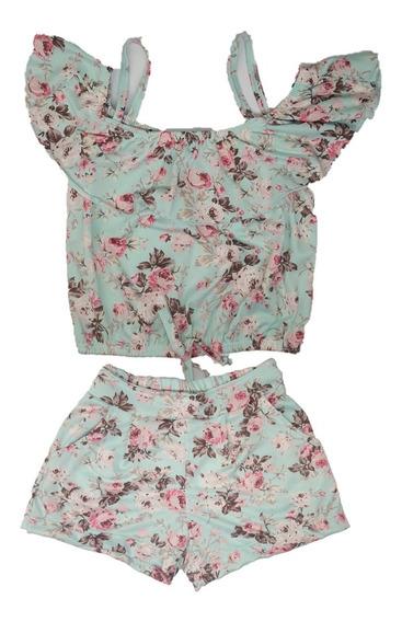 Conjunto Feminino Jersey Com Blusa Cigana Tamanho 10 12 14