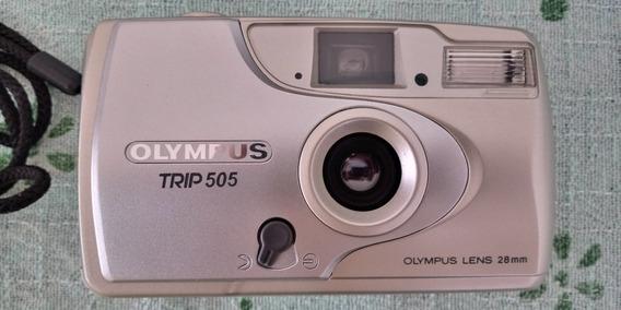 Máquina Fotográfica Olimpus Trip 505 28mm Nova Funcionando..