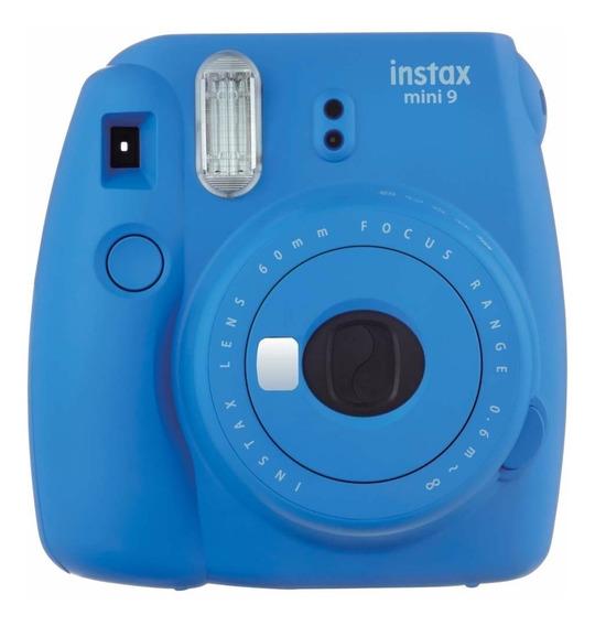 Camera Instax Mini 9 Instantanea Blue Azul Cobalto Fujifilm