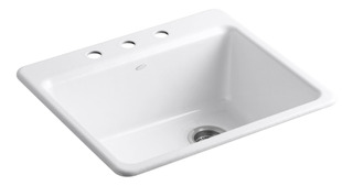Kohler K 5872 3a1 0 Riverby Single Bowl Top Mount Kitchen Si