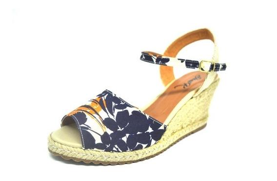 Sapatos Femininos Anabela Azul Florido Dani K