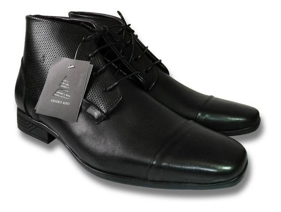 Botin Zapato Con Pasador Hombre 100% Cuero - Amadeo Asto