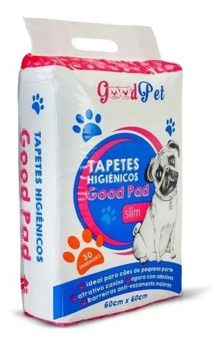 Imagem 1 de 4 de Tapete Higiênico Banheiro Fralda Pet Cães 60x60 Cm - 30 Unid