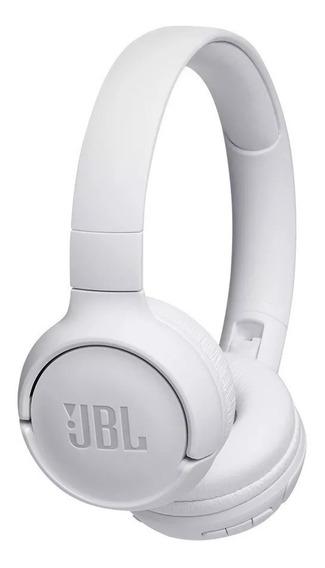 Fone De Ouvido Jbl Tune 500 Bt Branco Bluetooth C/ Microfone Dobravel