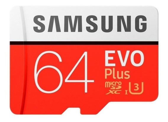 Cartão de memória Samsung MB-MC64GA/APC EVO Plus com adaptador SD 64GB