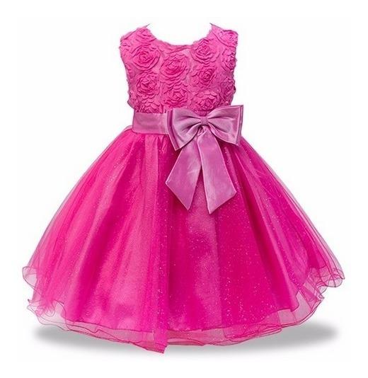Vestido Festa Infantil Princesa Baile Casamento 2a12 Frete Gratis