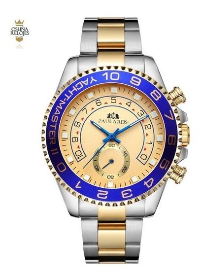 Relógio Masculino Social Mecânico Paulareis Elegante De Luxo