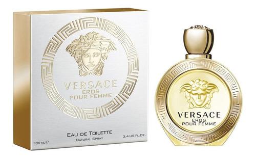 Imagen 1 de 1 de Perfume Versace Eros Pour Femme 100 Ml Edt
