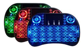 Mini Touch Pad Keyboard Teclado Sem Fio Wireless Led Pc Tv