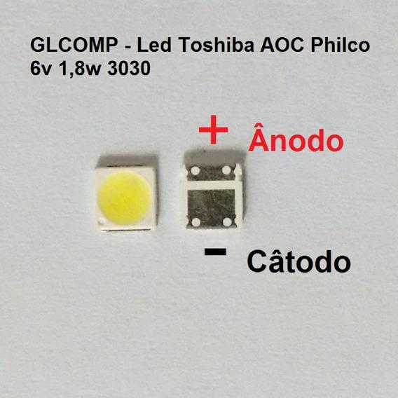 Led Smd Tv Sti Toshiba Aoc Philco 3030 6v 1,8w 100 Pçs Carta