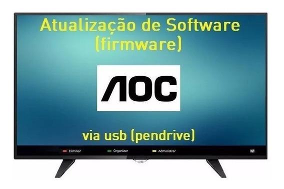 Atualização De Software Tv Aoc C/ Imagem Invertida Le32d1352