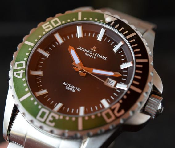 Relógio Jacques Lemans - Geneve - Automático - Diver