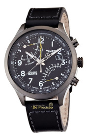 Relógio Timex Iq Racing Fly-back Cron. T2n699wl/tn