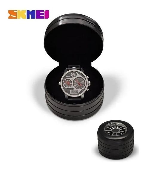Relógio Masculino Skmei Original Anadigi À Prova D´água.