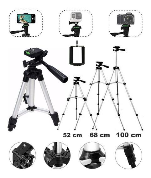 Tripé Universal Celular Smart Câmera 1,00 Metros De Alumínio