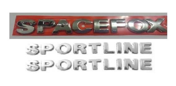 Kit Emblemas Spacefox 2- Sportline G3 G4 G5 + Brinde Volks