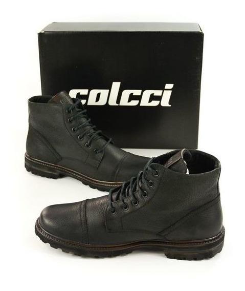 Bota Coturno Masc 8070100108 Preto Couro Oscar Colcci 92446